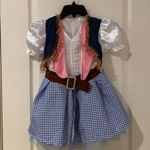 Girl's cowgirl western style Halloween dress used